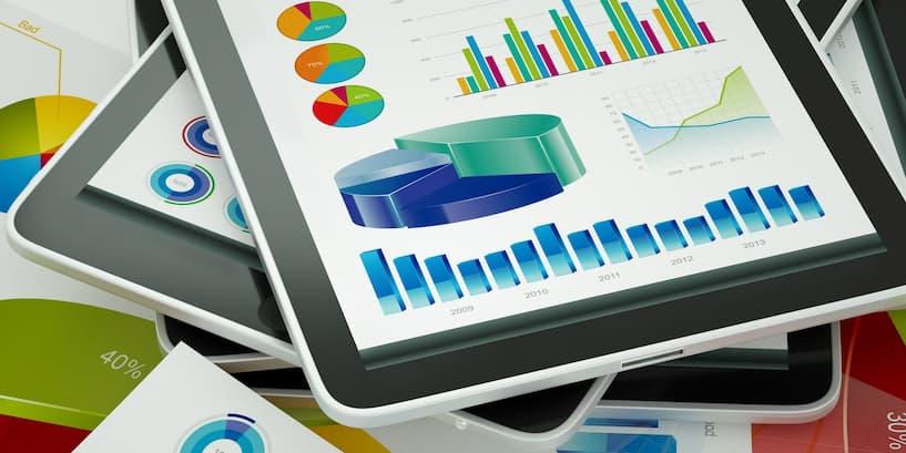 Graphs of financial data