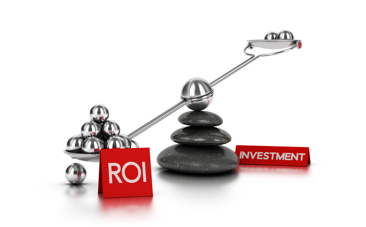 Diagram of balance between investment and ROI
